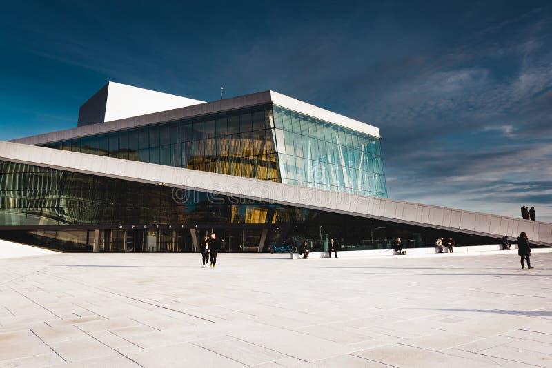 Il teatro dell'opera di Oslo, Operahuset fotografia stock libera da diritti