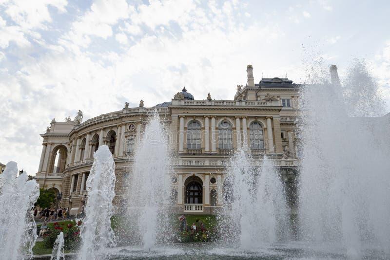 Il teatro di balletto e di Odessa National Academic Opera in Ucraina immagini stock libere da diritti