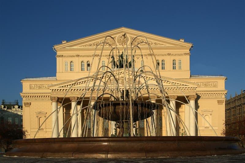 Il teatro di Bolshoi, Mosca, Russia fotografie stock libere da diritti