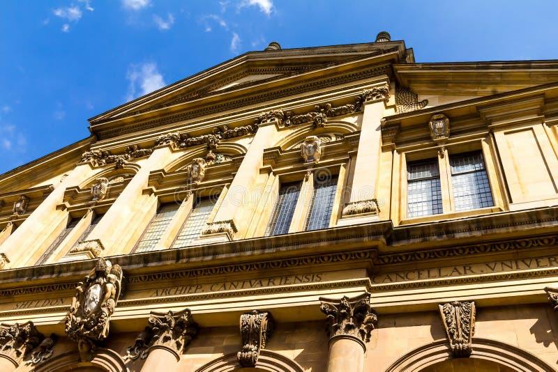Il teatro di Sheldonian, situato a Oxford, l'Inghilterra, immagine stock libera da diritti