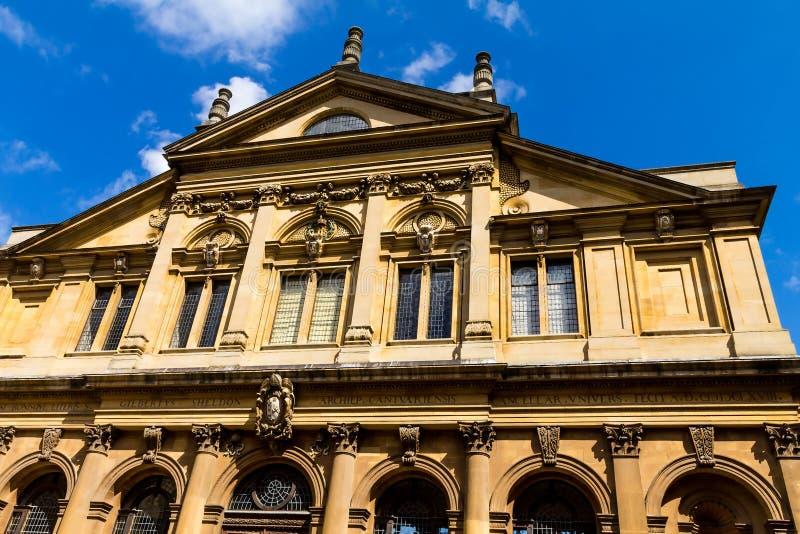 Il teatro di Sheldonian, situato a Oxford, l'Inghilterra, fotografie stock