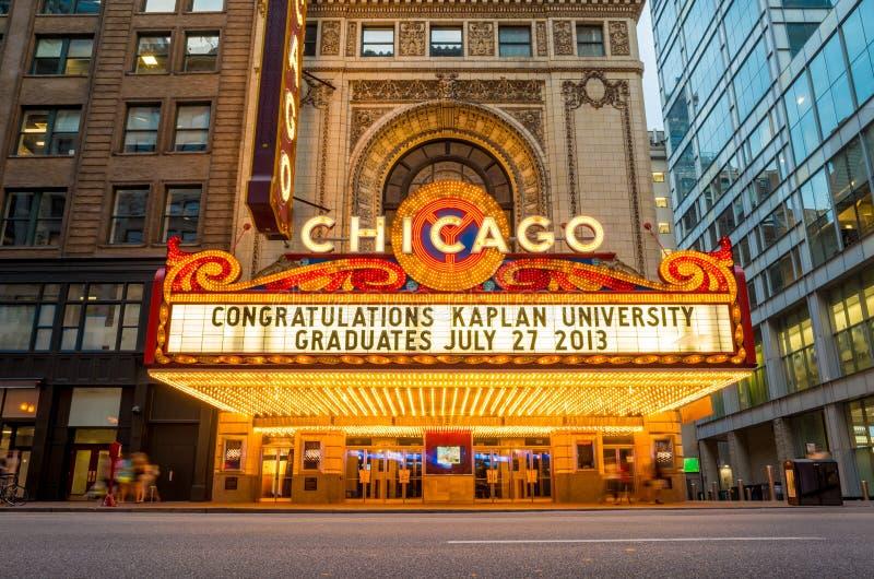 Il teatro famoso di Chicago immagini stock