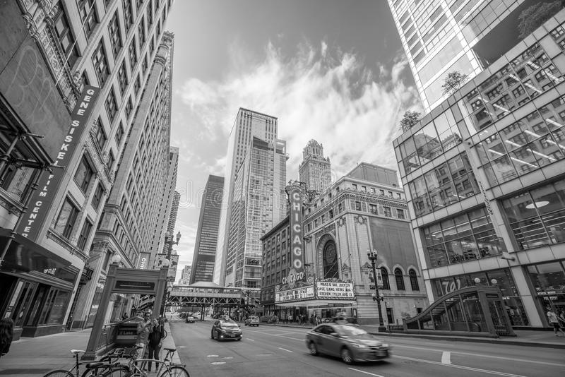 Il teatro famoso di Chicago su State Street fotografia stock libera da diritti