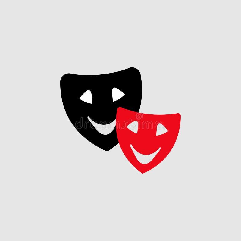 Il teatro maschera l'icona Elemento dell'icona del teatro per i apps mobili di web e di concetto L'icona dettagliata delle masche royalty illustrazione gratis