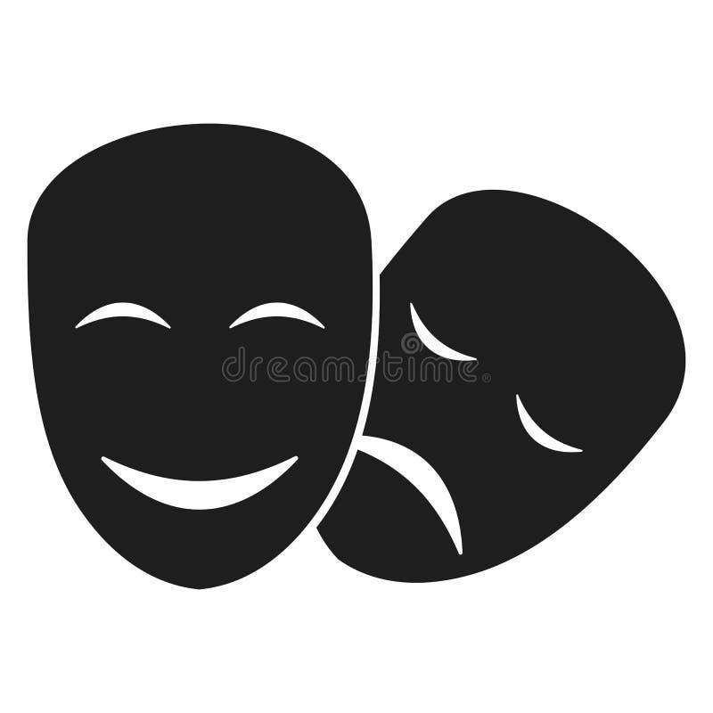 Il teatro maschera le icone illustrazione di stock