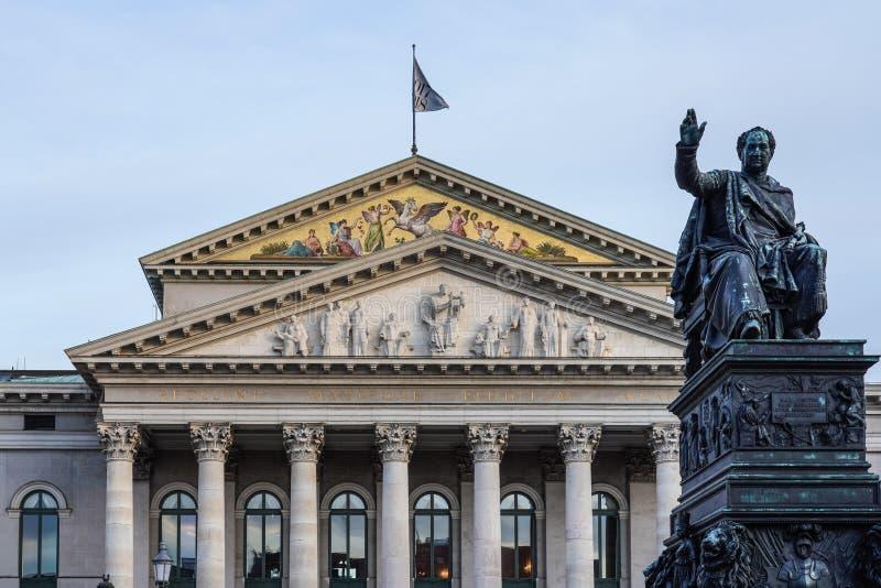 Il teatro nazionale di Monaco di Baviera - Residenztheater a Monaco di Baviera, Germania immagini stock libere da diritti