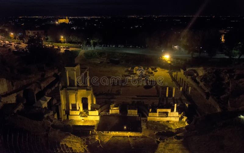 Il teatro romano di Volterra immagine stock libera da diritti
