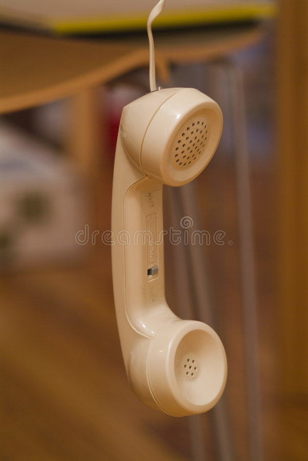 Il telefono è fuori dall'amo immagini stock libere da diritti