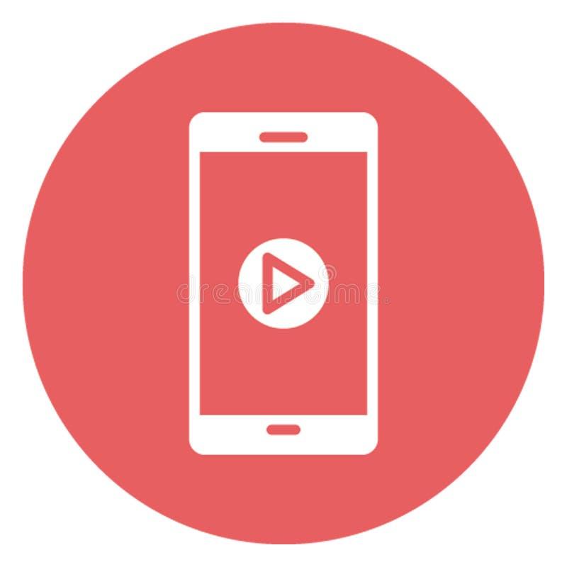 Il telefono cellulare ha isolato l'icona di vettore che può modificare facilmente illustrazione di stock