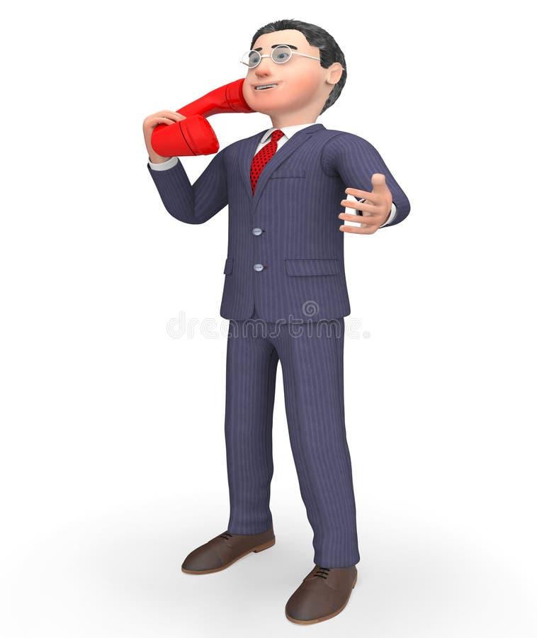 Il telefono di conversazione indica chiama noi e la chiamata della rappresentazione 3d illustrazione vettoriale
