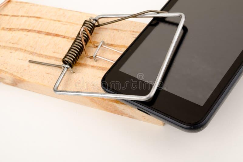 Il telefono esagera fotografie stock