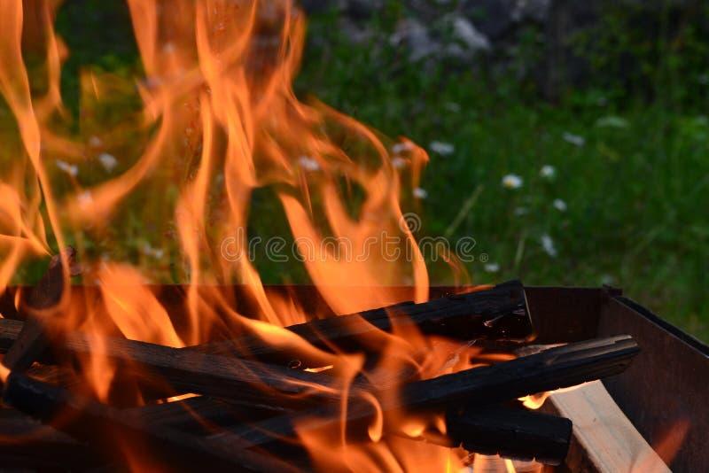 Il tema di forte e fiamma calma fotografia stock libera da diritti