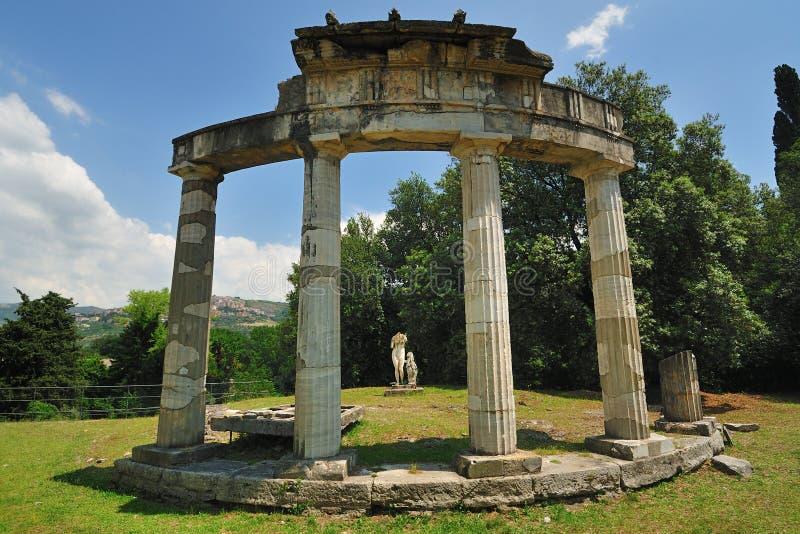 Il tempiale del Venus in villa di Hadrian, Tivoli - Roma fotografia stock libera da diritti