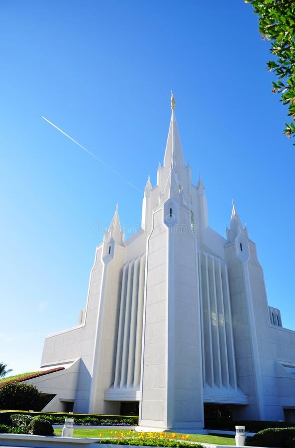 Il tempiale di San Diego del Mormone immagini stock libere da diritti