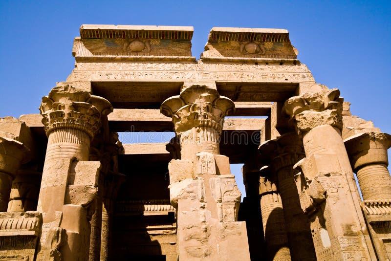Il tempio antico di Kôm Ombo fotografie stock libere da diritti