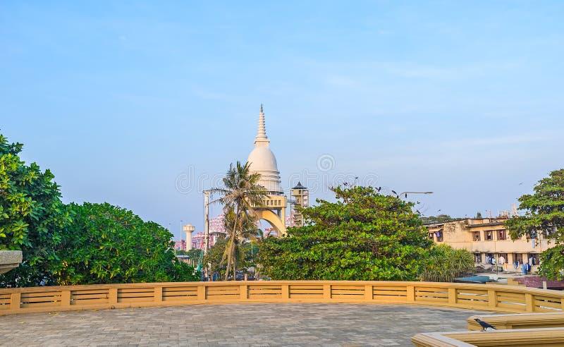 Il tempio buddista moderno a Colombo immagine stock