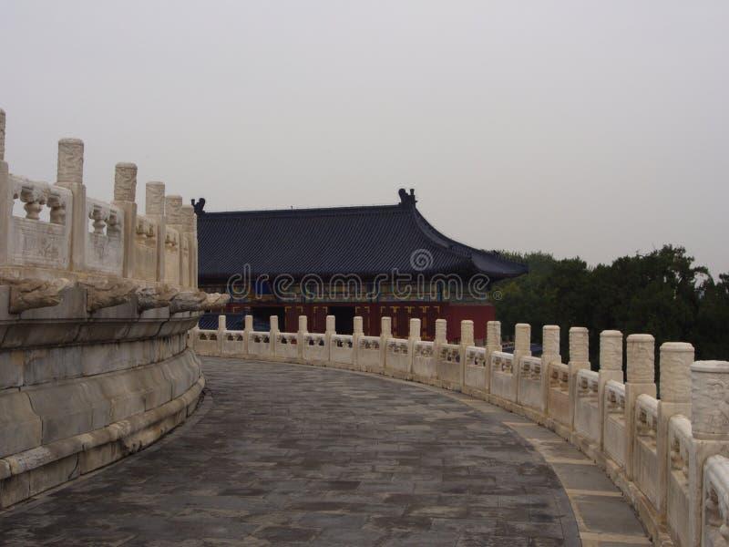 Il tempio del cielo dettagliatamente Porta e finestre ed il tetto TR immagine stock libera da diritti