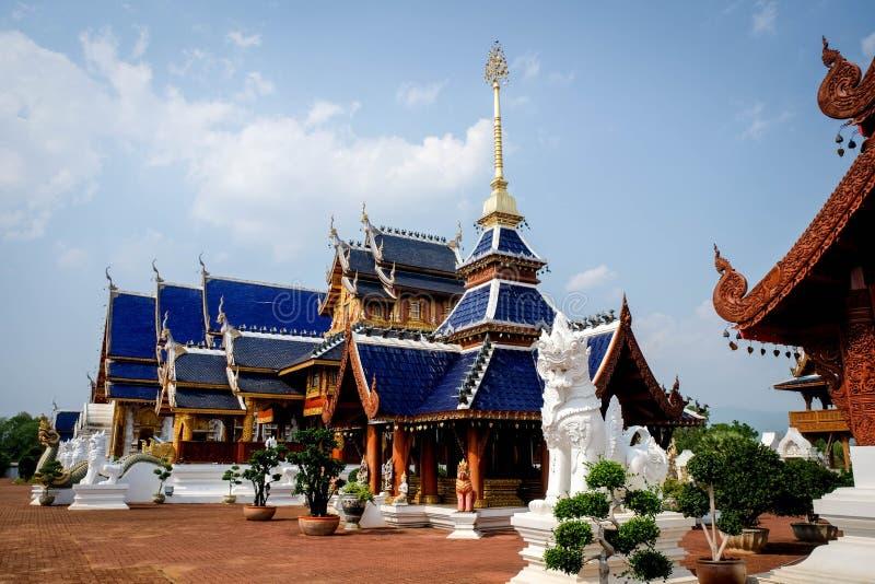 Il tempio della tana di divieto è un tempio tailandese che è situato nel nordico fotografia stock libera da diritti