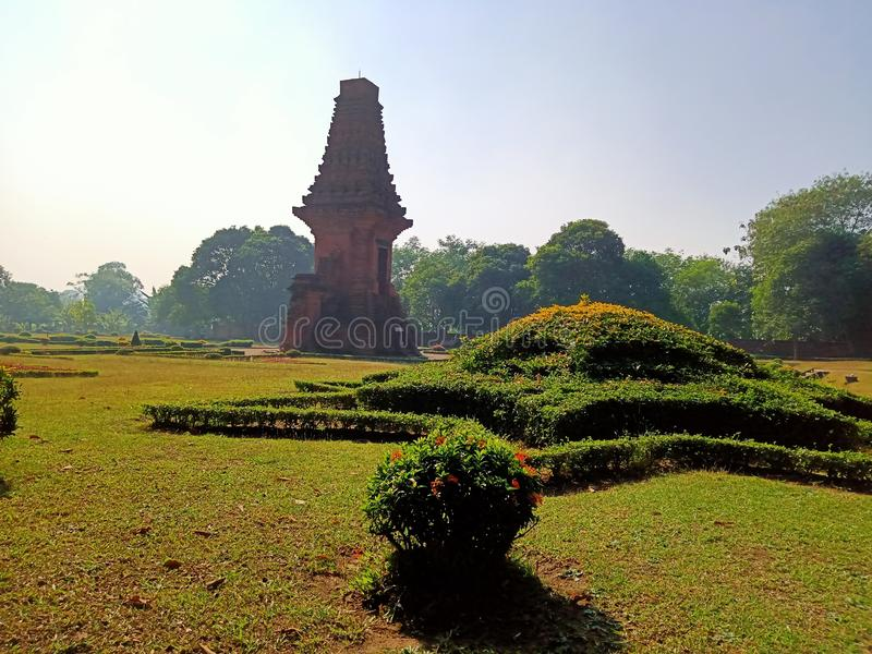 Il tempio di Bajang Ratu ha ereditato dal regno di Majapahit immagini stock libere da diritti