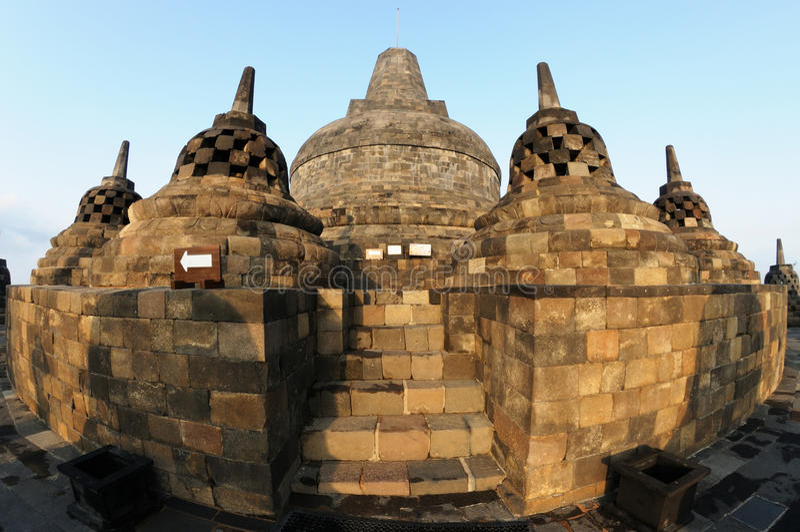 Il tempio di Borobudur fotografia stock libera da diritti