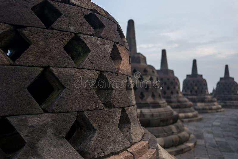 Il tempio di Borobudur ad alba fotografia stock libera da diritti
