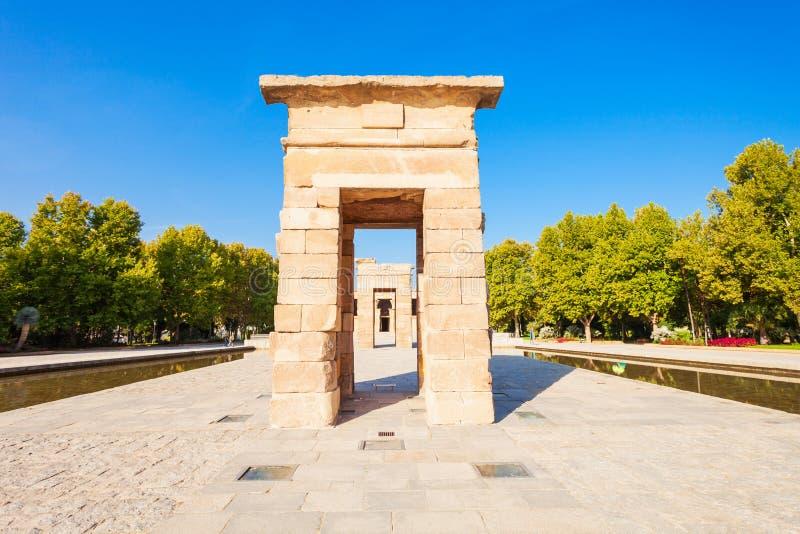Il tempio di Debod a Madrid, Spagna fotografia stock