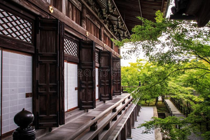 Il tempio di Eikando ed i motivi pittoreschi, regione di Kyoto, Kansai, Giappone immagini stock libere da diritti