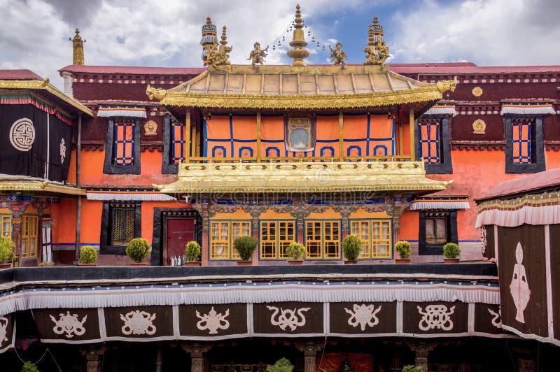 Il tempio di Jokhang a Lhasa, Tibet immagini stock