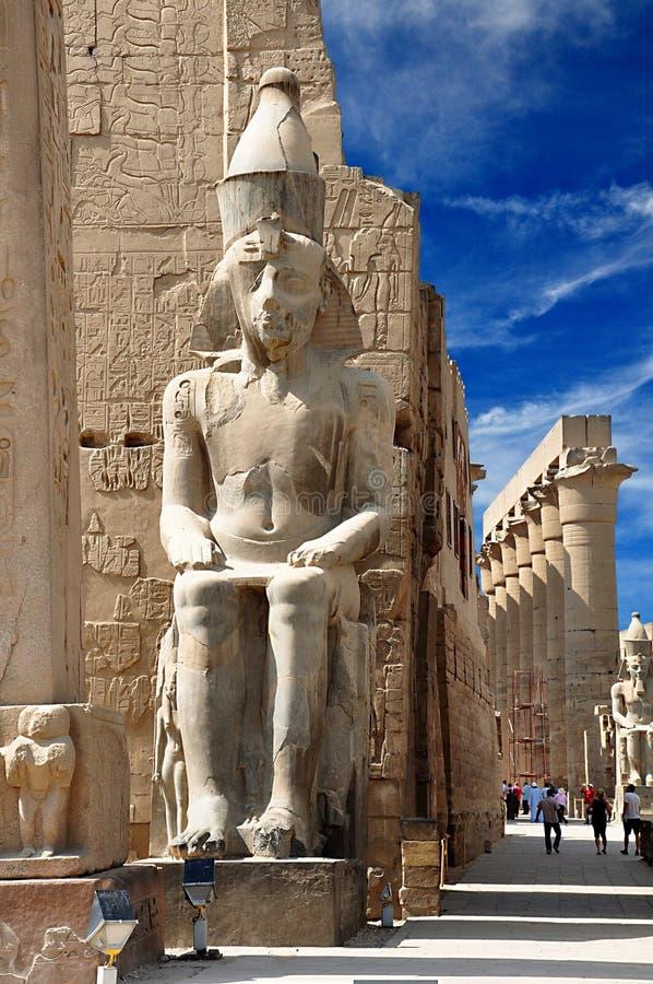 Il tempio di Luxor Tebe antico è un complesso egiziano antico del tempio fotografia stock libera da diritti