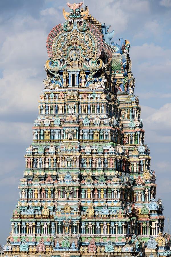 Il tempio di Madura, colora le torri maestose immagini stock libere da diritti
