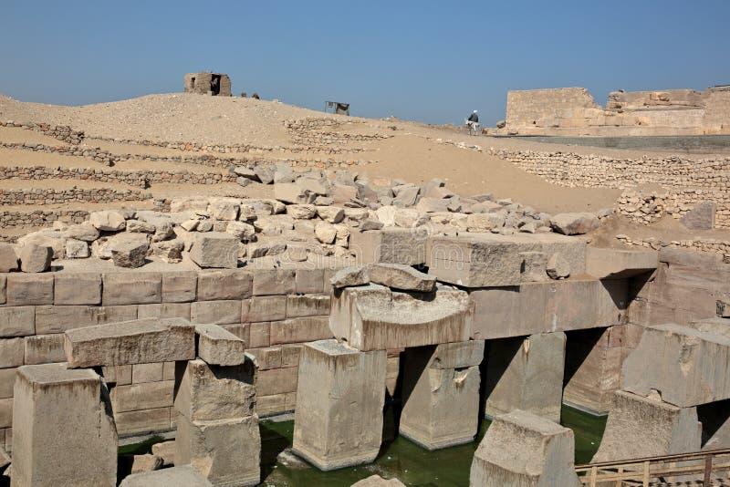 Il tempio di Osirion a Abydos, Egitto fotografia stock