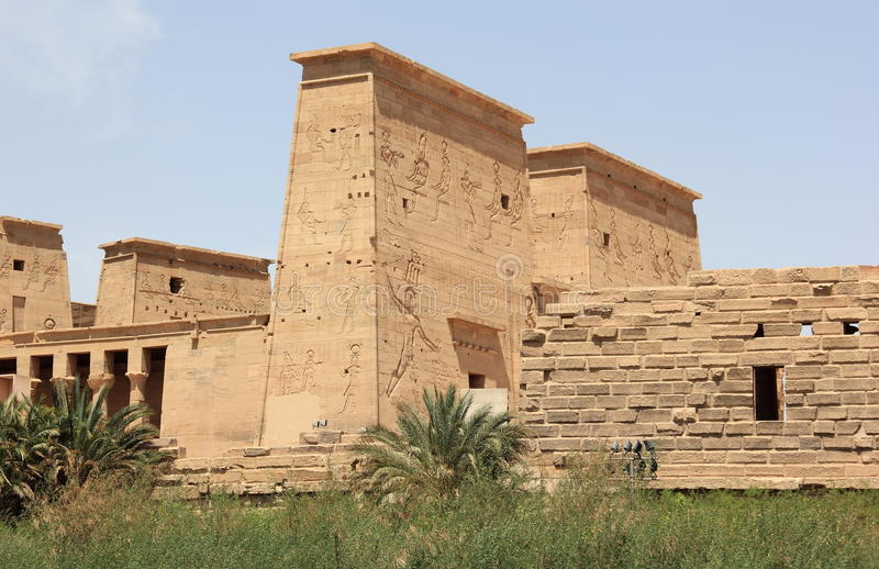 Il tempio di Philae, sull'isola di Agilkia Egypt immagine stock libera da diritti