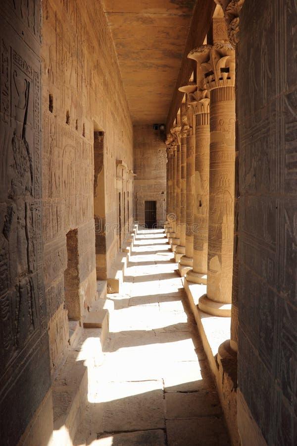 Il tempio di Philae, sull'isola di Agilkia Egypt immagine stock