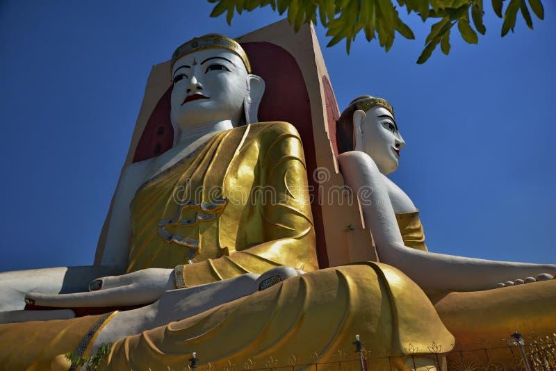 Il tempio di quattro monaci dei fronti nel Myanmar immagine stock libera da diritti