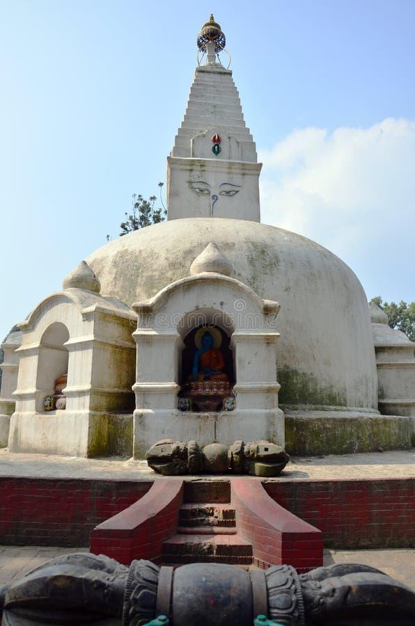 Il tempio di Swayambhunath o il tempio della scimmia con la saggezza osserva fotografie stock