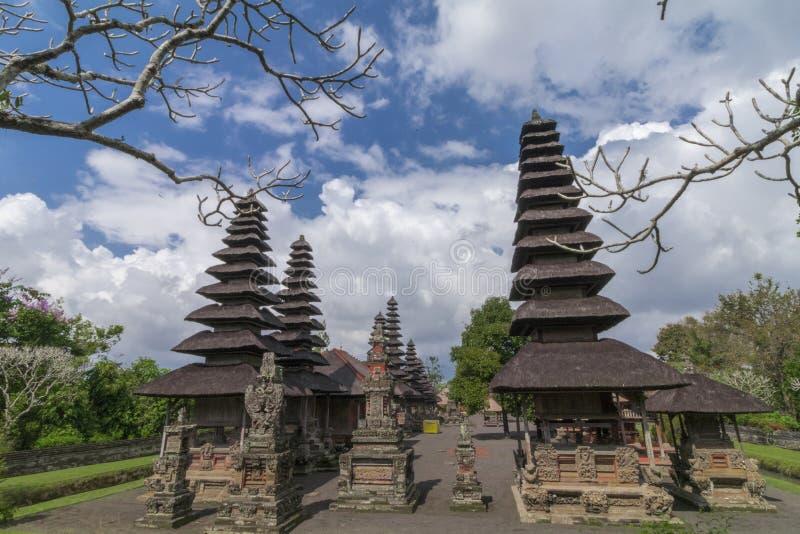 Il tempio di Taman Ayun è un punto di riferimento nel villaggio di Mengwi, Badung, Bali immagini stock libere da diritti