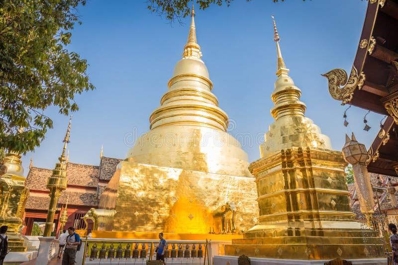 Il tempio di Wat Phra Singh Woramahaviharn è situato nel vecchio centro urbano di Chiang Mai fotografie stock