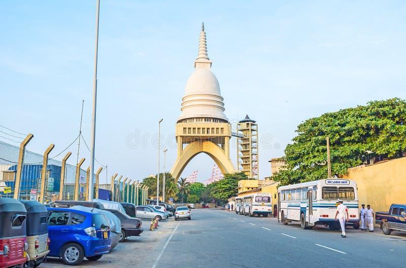 Il tempio moderno impressionante fotografia stock