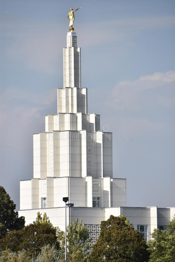 Il tempio mormonico all'Idaho cade nell'Idaho immagine stock libera da diritti