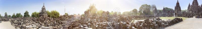 Il tempio rovina il tempio di Chandi Sewu L'Indonesia, Java fotografie stock libere da diritti