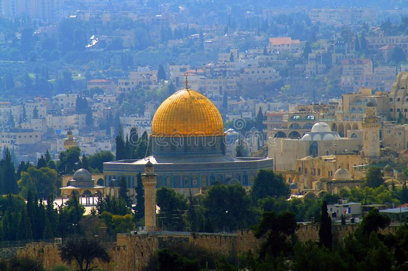 Il Temple Mount, conosciuto ai musulmani come il esh-Sharif di Haram fotografia stock