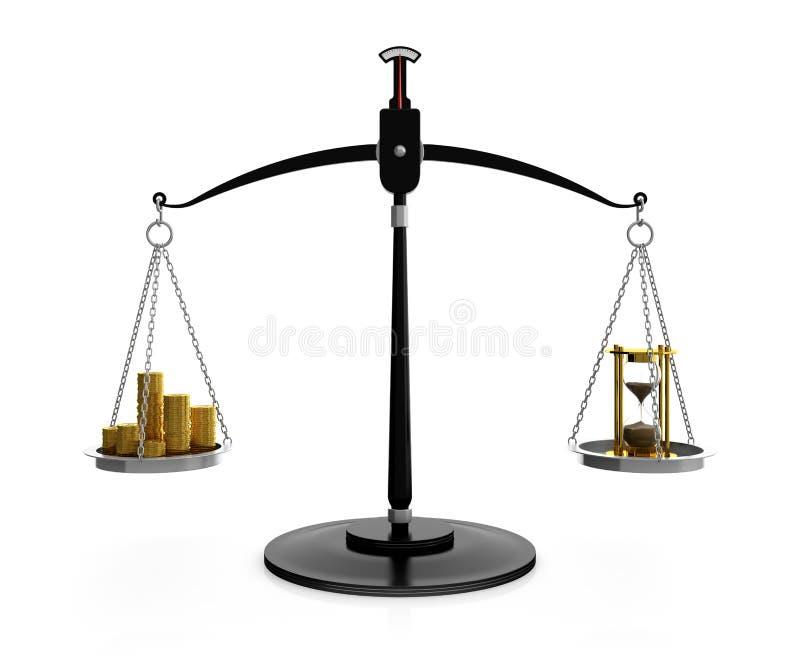 Il tempo è denaro illustrazione di stock