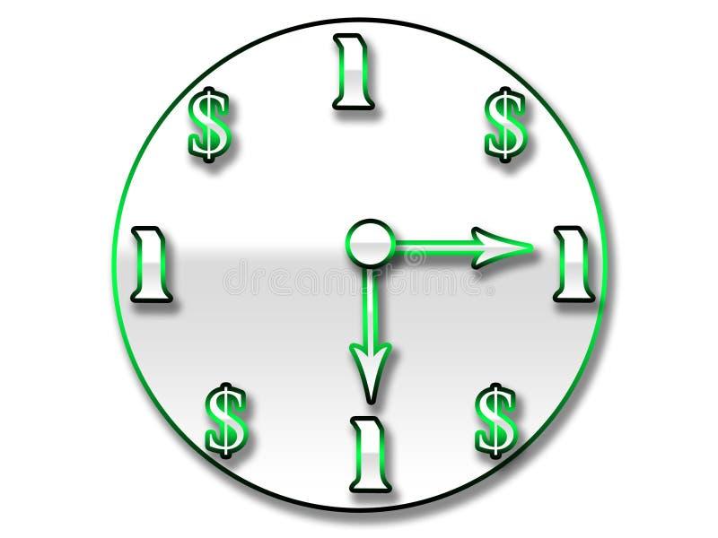 Il tempo è denaro orologio illustrazione vettoriale