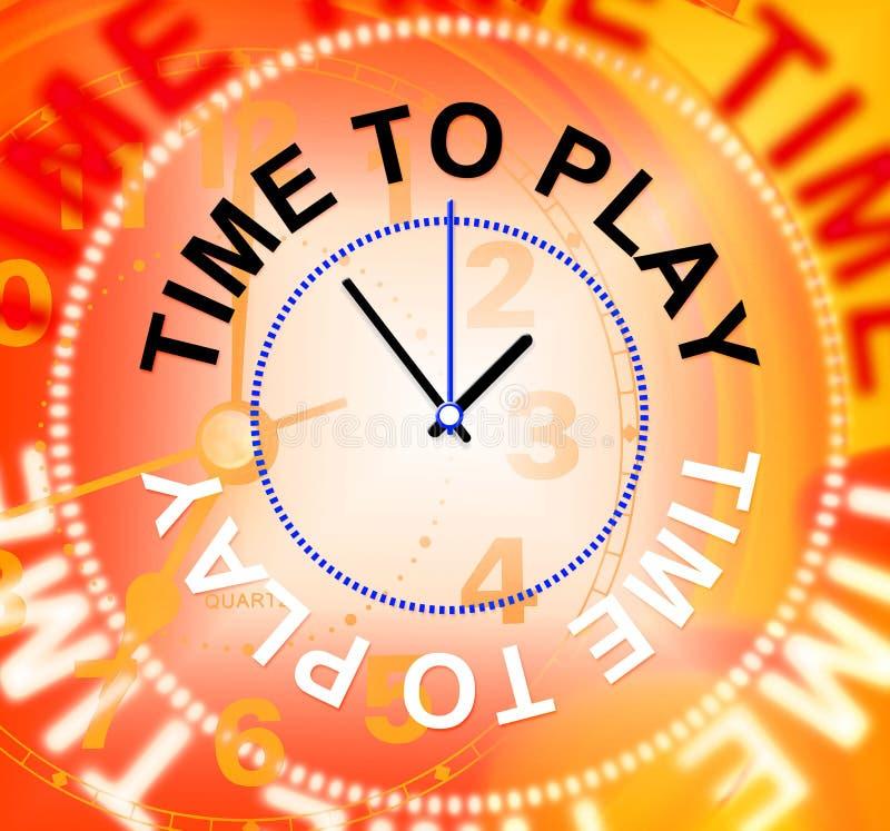 Il tempo di giocare rappresenta il gioco della ricreazione ed allegro illustrazione di stock
