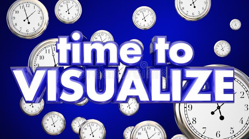 Il tempo di prevedere l'immaginazione degli orologi pensa il piano illustrazione di stock
