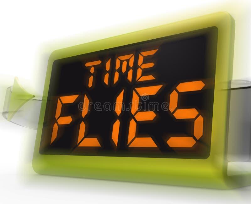 Il tempo pilota i mezzi dell'orologio di Digital occupati e va da rapidamente illustrazione vettoriale