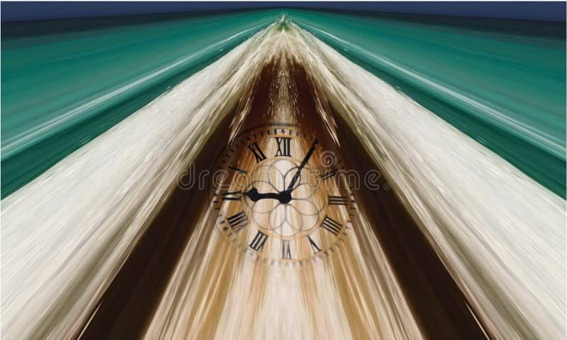 Il tempo sta funzionando! royalty illustrazione gratis
