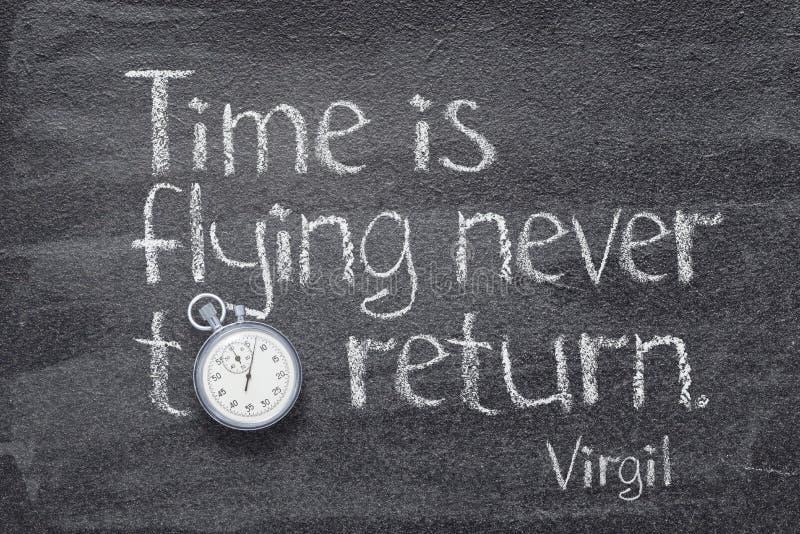 Il tempo sta pilotando Virgil fotografie stock