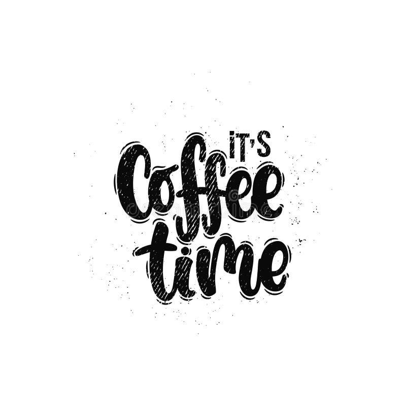 Il temps de café du ` s illustration de vecteur