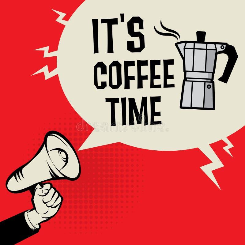 Il temps de café du ` s illustration stock